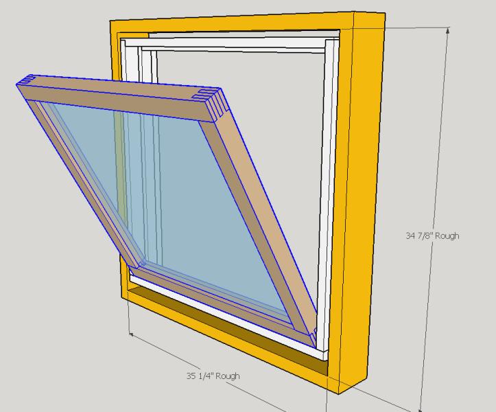 Hopper Window Open