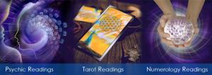 psychic readings, tarot readings, numerology readings image