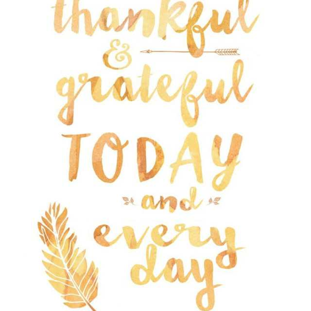Happy Thanksgiving! Grateful for all you and family!