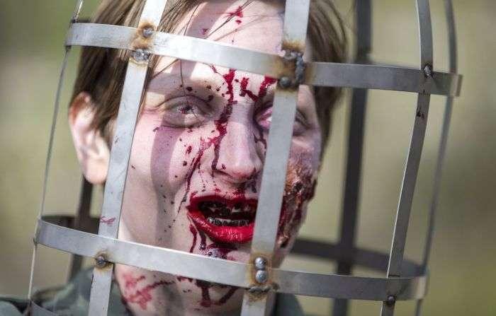 Конкурс зомби в Брюсселе (28 фото)