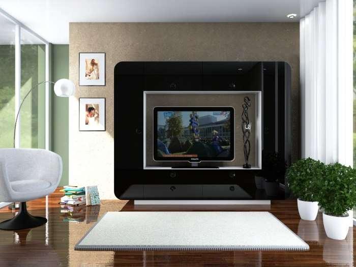 Стильные и эргономичные модульные системы: 20 идей, как оживить зону для просмотра телевизора
