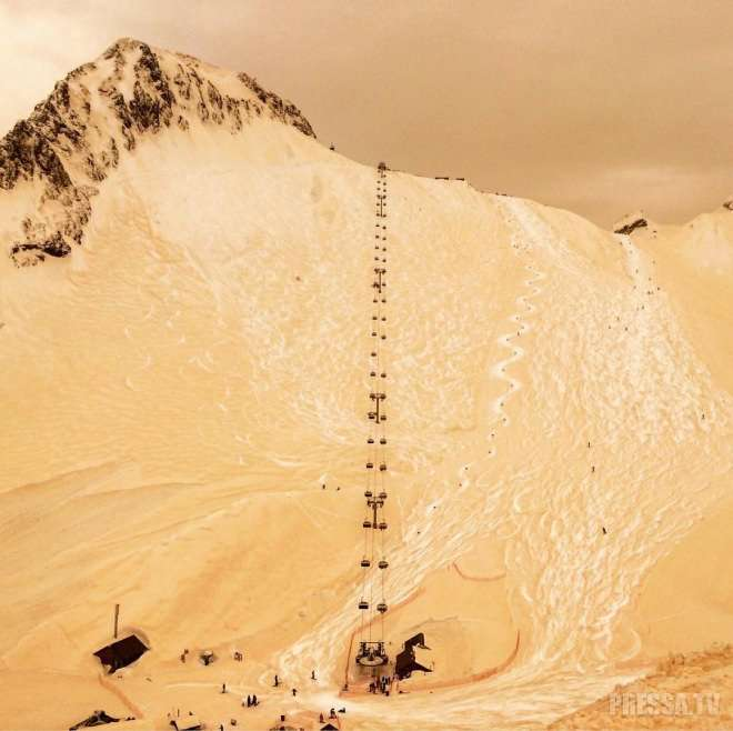 Если ты не едешь в Египет, Египет едет к тебе - Сочи накрыла песчаная буря
