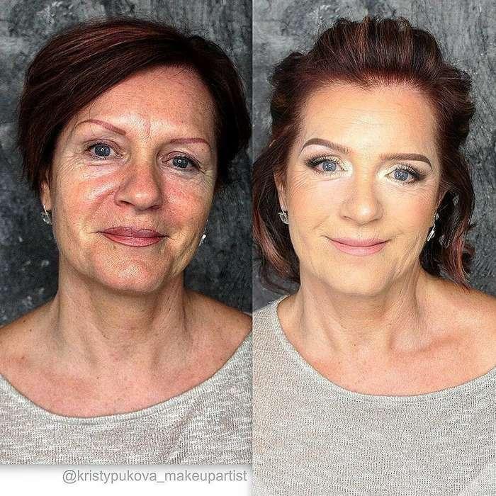 При помощи макияжа этот визажист так преображает женщин, что их не узнать
