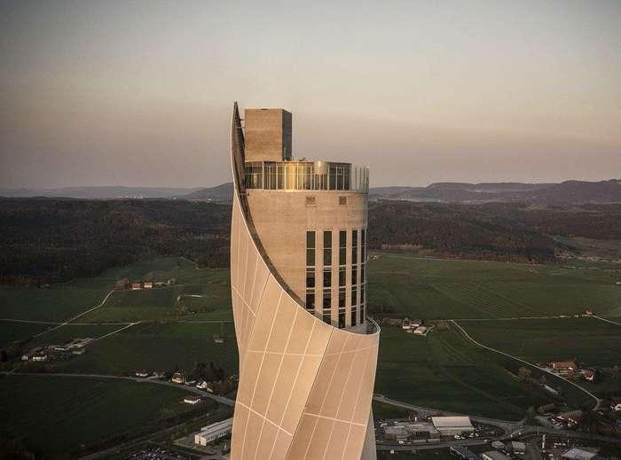 246-метровая испытательная башня для тестирования лифтов в Германии