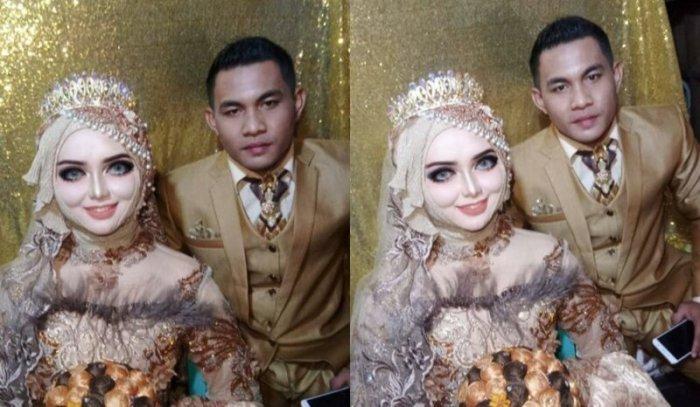 Девушка захотела на свадьбу макияж как у Барби. Жених не узнал невесту-7 фото-