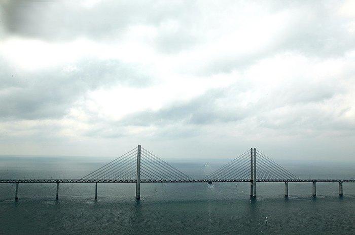 Удивительный мост-тоннель, соединяющий Данию и Швецию