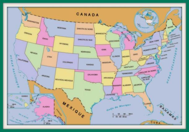 Carte de l'USA