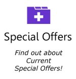 special offers icon box in purple