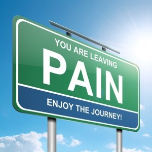 Sign with the words you are leaving pain