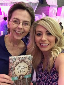 Signing and selling books at bridal fairs is always fun. My daughter Kelli assisted me here.