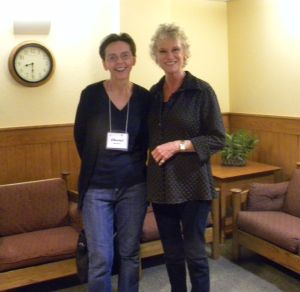 With author and speaker Ruth Graham (daughter of Billy Graham) at the Maranatha Christian Writers' Conference