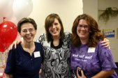Author and speaker T. Suzanne Eller with me and fellow blogger Flea Christenson