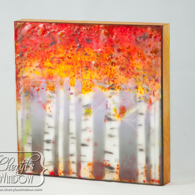 Aspen Whispers in Encaustic