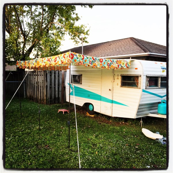 Hang a Vintage Awning by Yourself