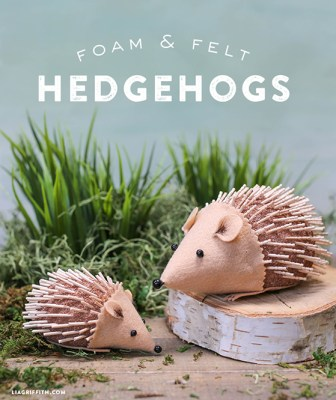 Felt and Foam Hedgehogs