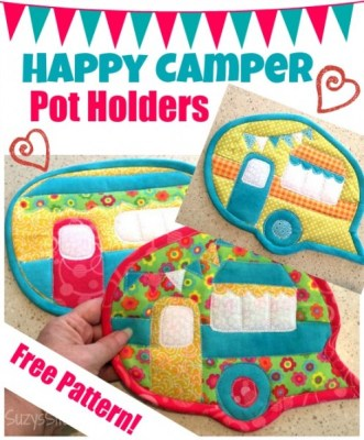 Happy Camper Pot Holders
