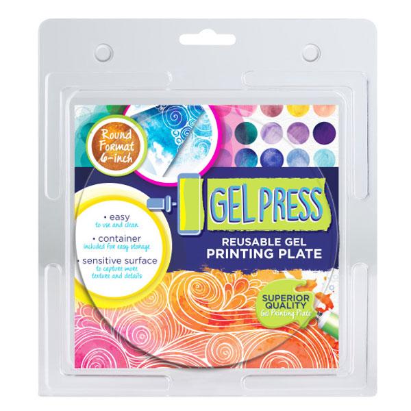 Gel Press plate 6 Round 10806-6