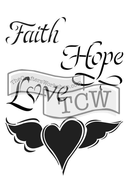 TCW2145 Faith Hope Love