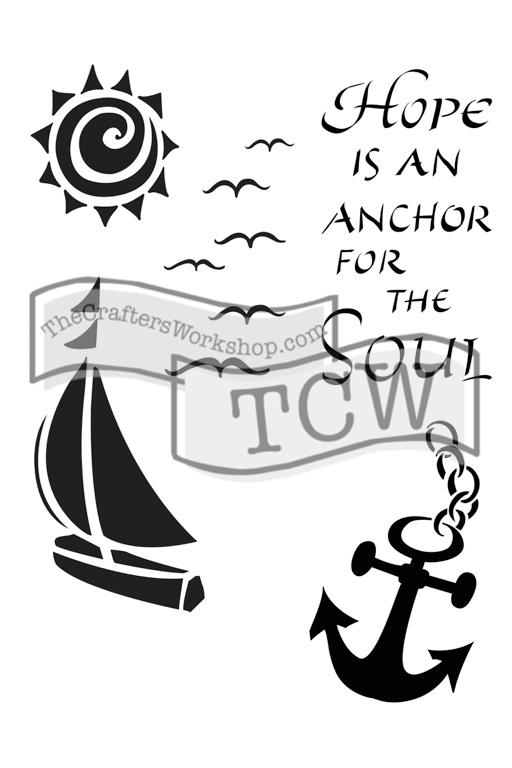 TCW2150 Hope is an Anchor stencil