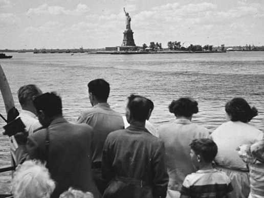 Visitors on the way to the Statue of Liberty. Photo: National Park Service.