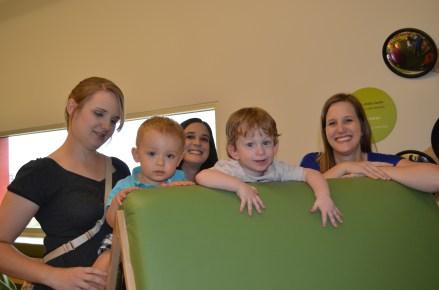 Tina, Kristen, Sarah, Owen and August!