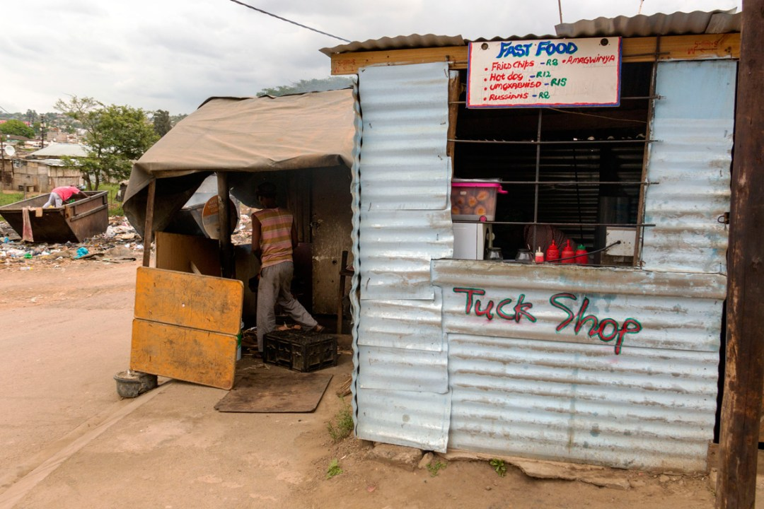 Rural shop in Phoenix Settlement, Durban