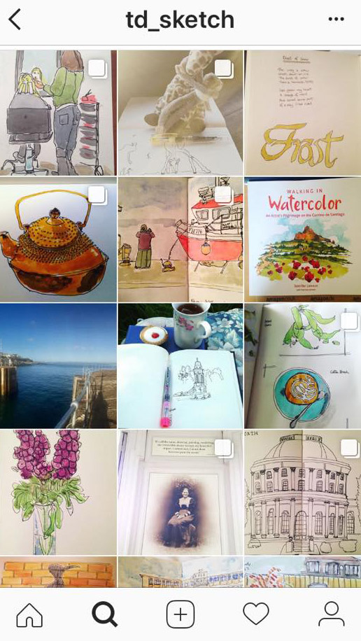 Instagram page for td_sketch