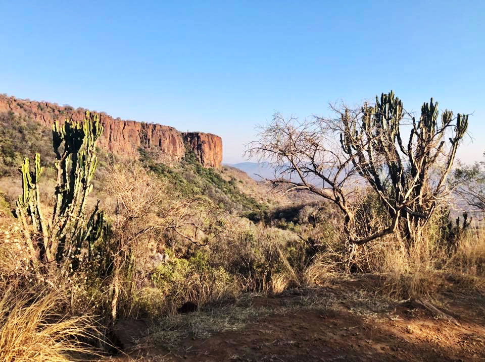 Cliff faces of Waterberg Mountains, Marakele Nature Reserve