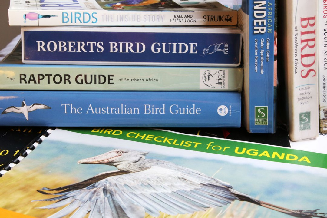 Some reference books for birdwatching