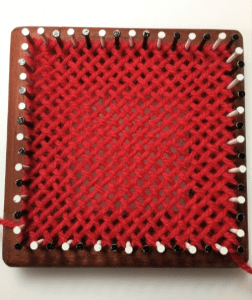 Finished Square on loom