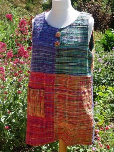 Woven flower dress by Creative Weaving