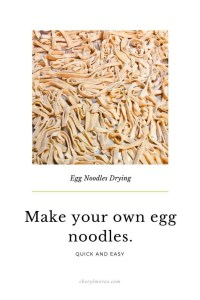 egg noodles drying