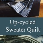 quilt made from sweaters