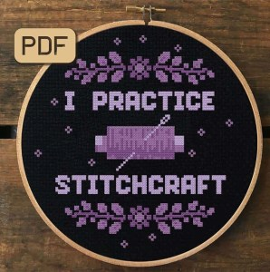 I Practice Stitchcraft Cross Stitch