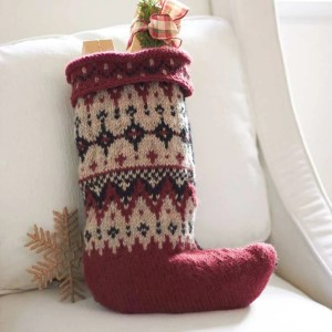 Fair Isle Christmas Stocking