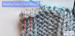 counting knit bind offs