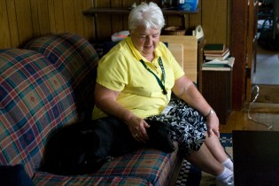 Fleurette and Bob's sensitive dog Susie have also become friends over the months.