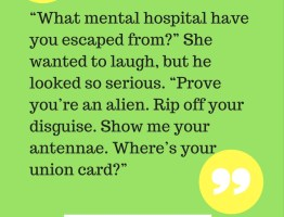 Quote from The Alien and the Girl in the Rain, an alien short story