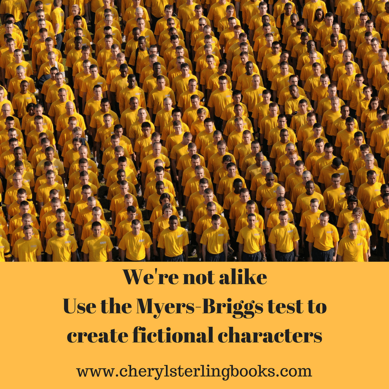 Create fictional characters for your book using the Myers-Briggs personality test. www.cherylsterlingbooks.com