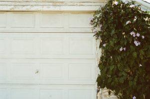 Garage door and garbage cans. #Atozchallenge. www.cherylsterlingbooks.com