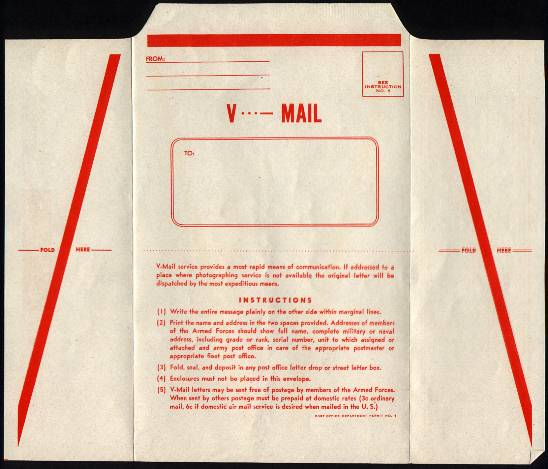 V-mail. WWII research