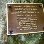 Mt waternomee B-18 bomber crash site hike plaque in their honor