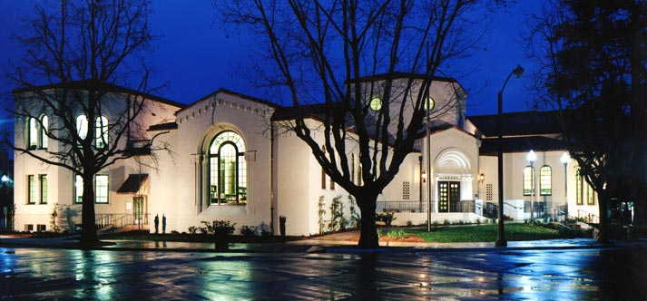Burlingame-Library-at-Night