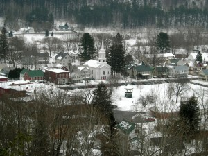 ON drive up to Vermont February 2011 a picture postcard town