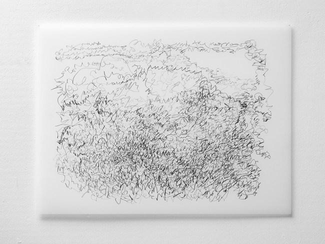 "Untitled #13, graphite on vellum, 19 x24"", 2009"