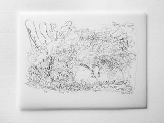 "Untitled #14, graphite on vellum, 19 x 24"", 2009"