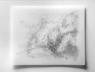 "11.27.13.1, graphite on vellum, 3 layers, 19 x 24"", 2013"
