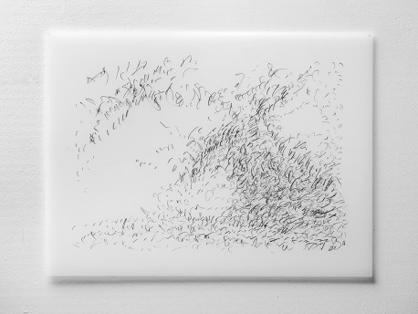 "Untitled #28, graphite on vellum, 19 x 24"", 2009"