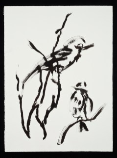"Birds, 11.4.12.3, watercolor on paper, 30 x 22.5"", 2012"