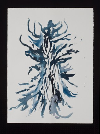 """Tree Goddess, watercolor on paper, 30 x 22.5"""", 2013"""